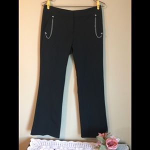 Cache black Flared pants with chains